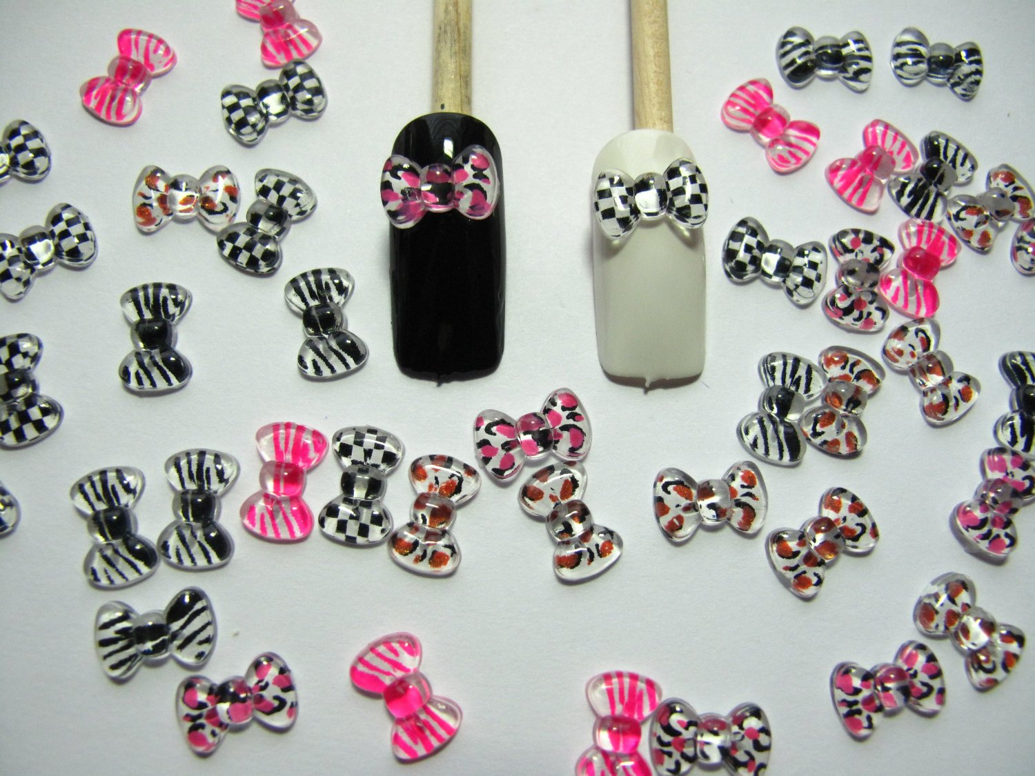 3d Printed Bows Glamorous Nail Supplies