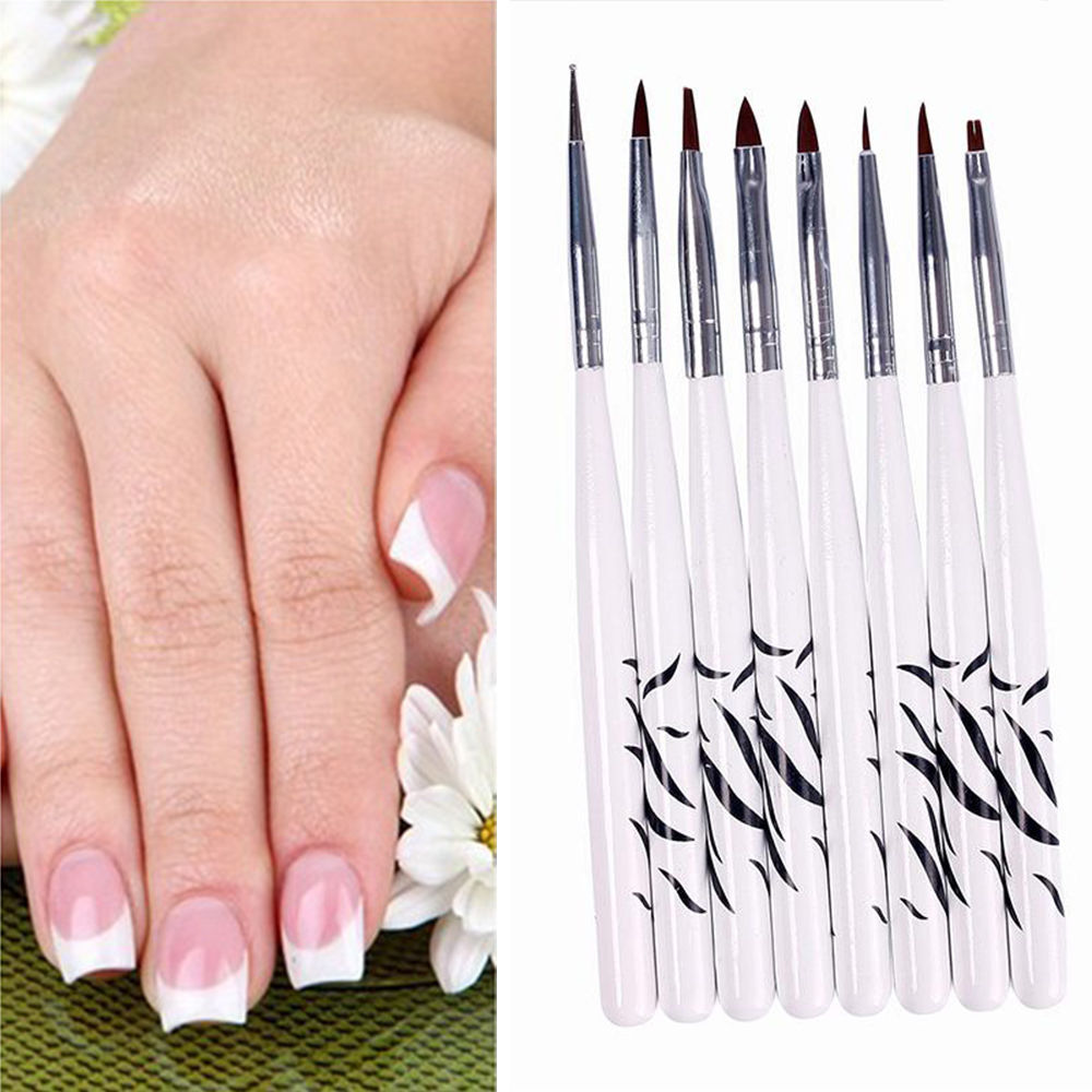 8 Pcs Nail Art Design Detailing Drawing Paint Painting Brushes ...