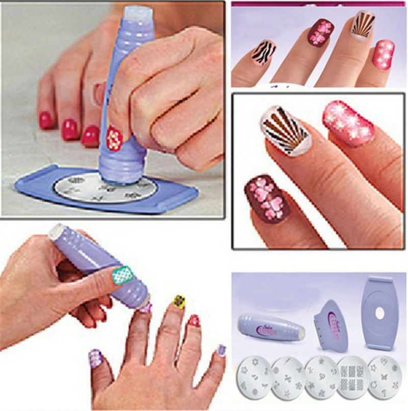 Salon Express Nail Art Stamp Stamping Polish Stencil - Glamorous ...